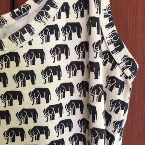 Banana Republic elephant print cotton tank top